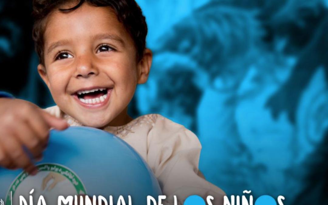 Celebre el Día Mundial de los niños pintándose de azul