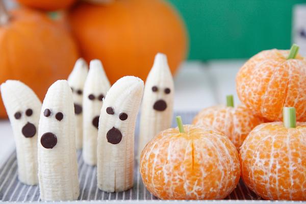 Bocadillos fáciles y saludables para Halloween