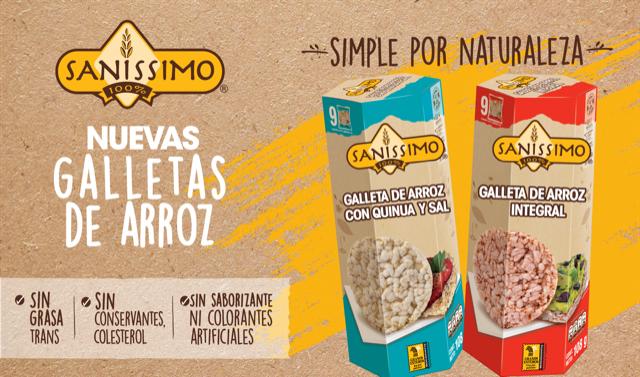 Saníssimo lanza en Costa Rica y Centroamerica sus nuevas galletas de Arroz