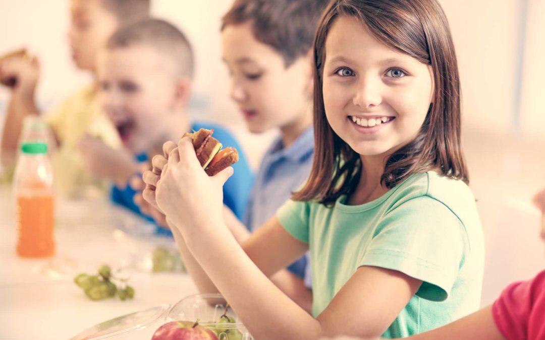 Meriendas atractivas para niños en tiempo lectivo