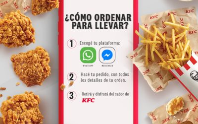 KFC habilita pedidos por WhatsApp y Facebook Messenger