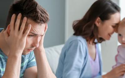 La depresión posparto también es cosa de hombres