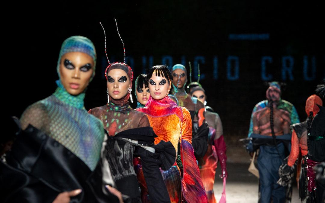 Colores y formas de los insectos inspiran colección de Mauricio Cruz Studio lanzada en el Costa Rica Fashion Week